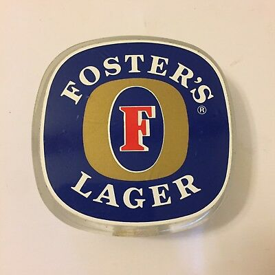Fosters Lager Beer Tap Badge, Decal, Top Vintage Collectable