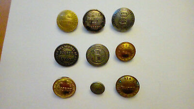 9 boutons collector  divers