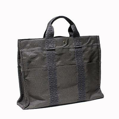 HERMES Her Line tote MM gray nylon canvas