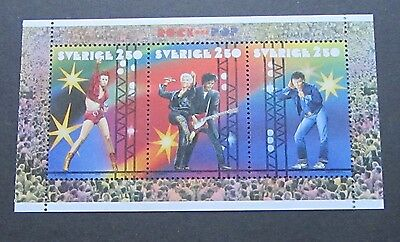 Sweden 1991 Rock and Pop Music stamps MNH