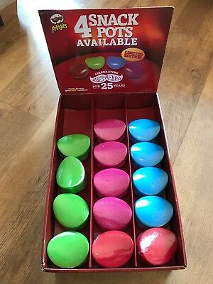 NEW Pringles Pop Box Snack Pot New Blue Red Green Pink Lunch Bag