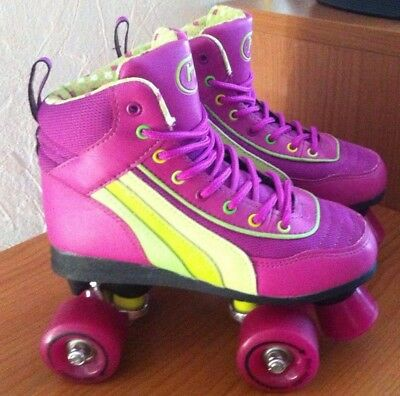Girls / Womens  SFR Rio Roller Quad Skates Pink size 3 Worn Once Immaculate