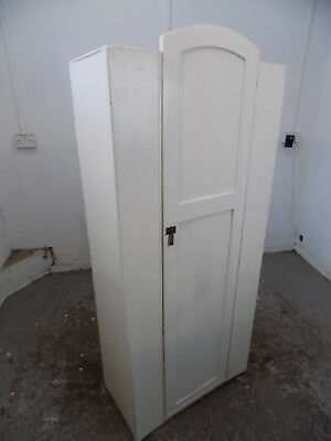 white,small,vintage,deco,wardrobe,single door,shelf,hanging,hall,cabinet,curved