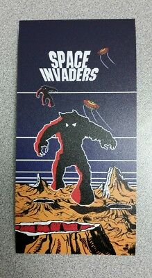 Space Invaders side art  sticker. 3 x 6. (Buy 3 stickers, GET ONE FREE!)