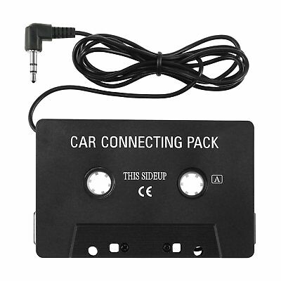 Stereo Car Cassette Tape Adapter Black 3.5mm Jack for MP3 Player Mobile Phone CD