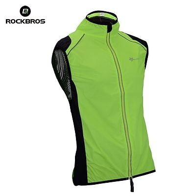 RockBros Bicycle Cycling Vest Bike Riding Wind Vest Windvest Sleeveless Green