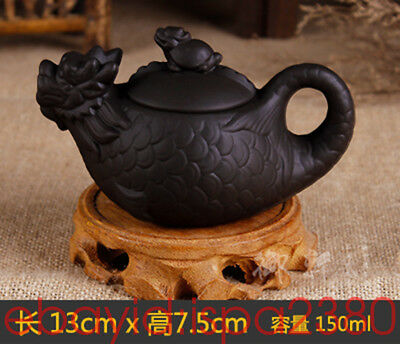 China Yixing purple sand pot Kung Fu Tea Ceramic tea set Dragon teapot 150cc