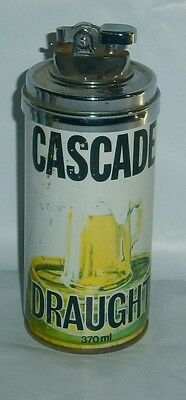 Cascade Draught Bee Steel Can Full size 3 piece Lighter great condition home bar