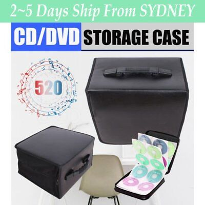 520/320 Disc CD DVD Storage Case Wallet Carry Bag Organizer Album Folder Black R