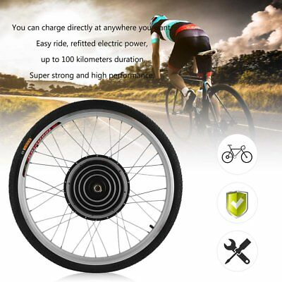 36V/48V 1000W Electric Bicycle 26inch Front Wheel Conversion Kit Cycling Motor R
