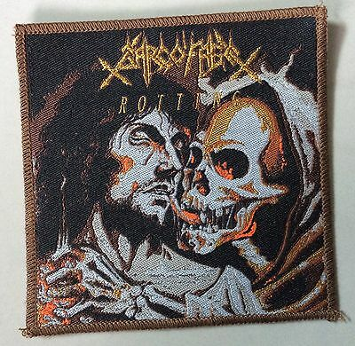 SARCOFAGO  WOVEN Patch cemetery Mercyful fate entombed dismember carcass