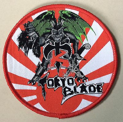TOKYO BLADE WOVEN Patch RED BORDER fate maiden nwobhm ozzy priest krokus