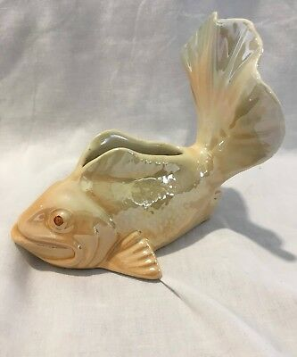 Vintage Wemberly Ware Pottery Fish Vase
