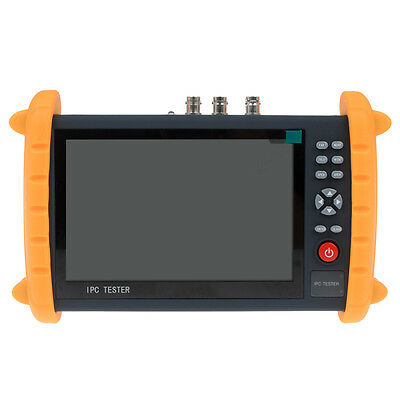 "IPC9600SATC 7"" Touch Screen Onvif IP HD-AHD TVI CVI CVBS Analog Cam Tester POE"