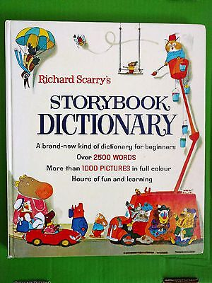 Richard Scarry's Storybook Dictionary vintage 1978 Hamlyn hb VGC