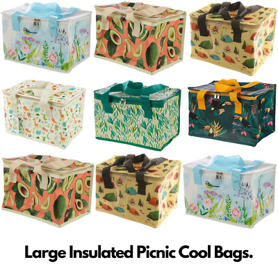 Picnic Large Lunch Cool Bag Tote Insulated School Office Kids Adults 19x29x20cm