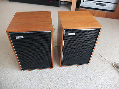Pair of Vintage Philips Speakers 22RH481 6 watt