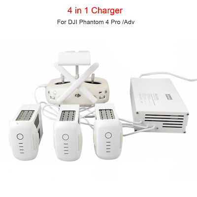 For DJI Phantom 4 Pro/Adv Drone 4 in 1 Remote Control & Battery Charger Parallel