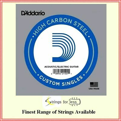 10 x D'Addario PL008 Single Plain Steel .008 Acoustic or Electric Guitar Strings