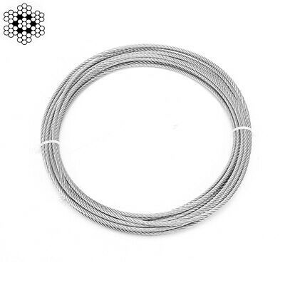 304 Stainless Steel Wire Rope Cable 7 x 7 Flexible 0.5mm 1mm 1.5mm 2mm 3mm 4mm