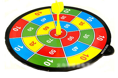 DARTBOARD DART BOARD WITH 6 DARTS IDEAL PARTY GAME PLAY SET DOUBLE SIDED Toy NEW