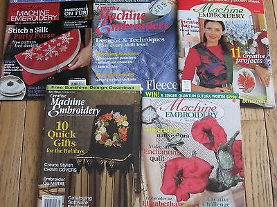machine embroidery magazines, retired back issues, some patterns included