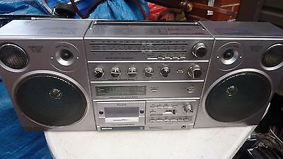 Vintage Philips D8623 Boombox Stereo Portable Radio Cassette AM FM SW short
