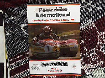 1988 Brands Hatch Programme 23/10/88 - Powerbike International