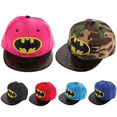 Kids Hip-Hop SnapBack Batman Baseball Cap Children Sports Hats hv2n