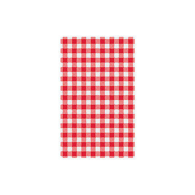 200 Sheets X Greaseproof Paper Gingham Red & White Check Checquered 200x300mm