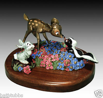 '' BAMBI '' , Thumper , Flower / DISNEY / MARC DAVIS BRONZE ARTIST PROOF / RARE!