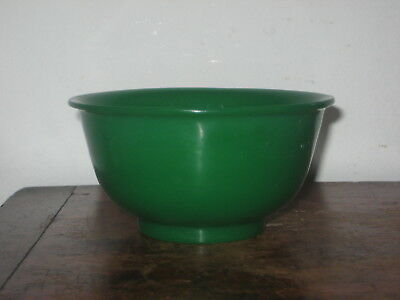 Chinese Peking Type Green Glass Bowl