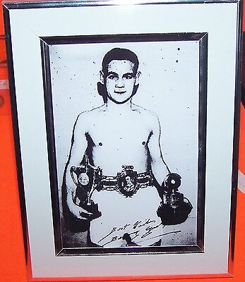 Boxing Photograph Signed By Benny Lynch