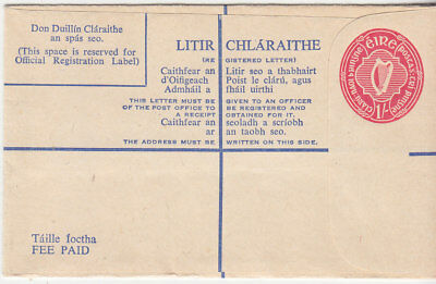 Eire early un-used Registered envelope