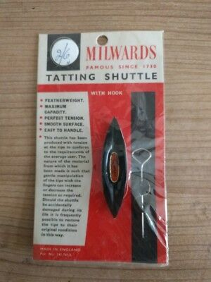Vintage Milwards Tatting Shuttle with Hook