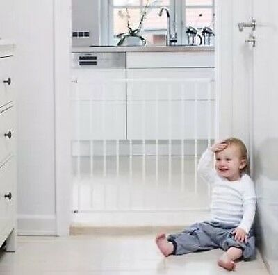 BabyDan No Trip Screw Fitted Baby Stair Safety Gate - White
