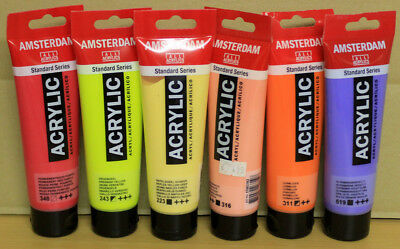 6 x 120 ml Acrylfarbe AMSTERDAM Set Nr. 2