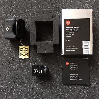 Leica Bright Line Finder M 24 mm Black 12026 Boxed Condition Exc ++