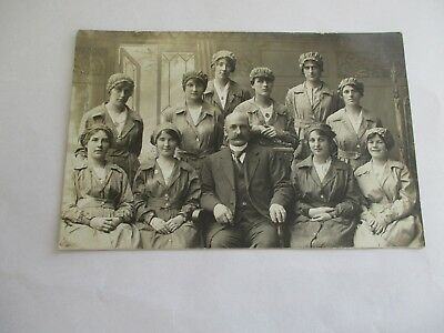 The Boss and Lady Workers - Old Social History ( Wisbech ? ) Postcard
