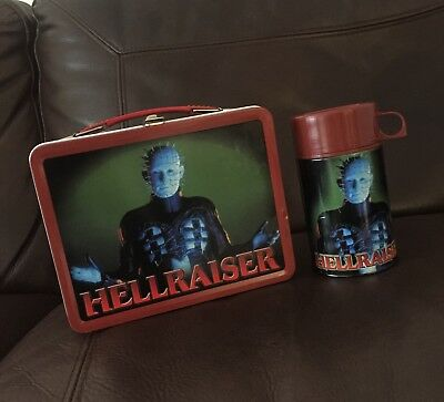 Hellraiser Metal Lunch Box And Flask By Neca Rare horror film movie