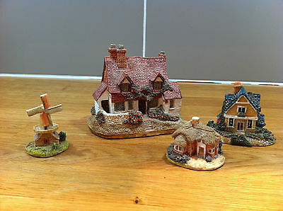 Rare Lilliput Lane Brock Bank Mini e.p.l village model cottage windmill set of 4