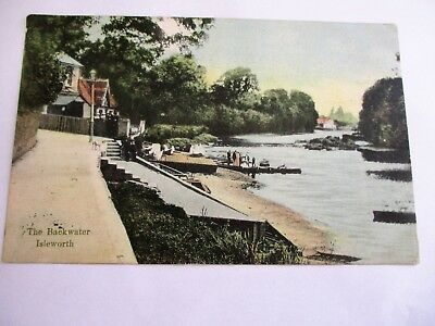 Isleworth The Backwater - Old Middlesex Postcard