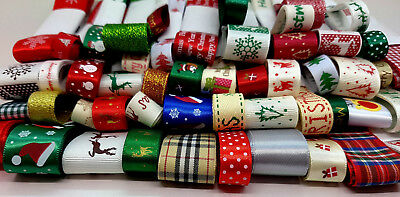 Mixed Christmas Ribbon Bundle packed by 3m, 5m, 10m, 20m, 50m # Free Delivery