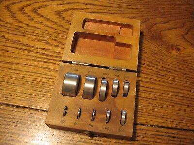 Antique Vintage Scale Calibration Weight Set In Wooden Case Apothecary Jeweler
