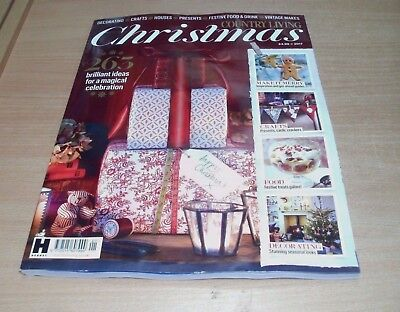 Country Living Christmas 2017 magazine: Decor Crafts Houses Gifts Food Makes &