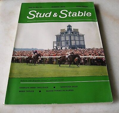 STUD AND STABLE MAGAZINE VOL. 11 No. 10 October 1972 Cover ROBERTO BRIGADIER G