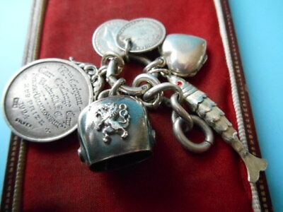 JOB LOT SOLID SILVER COINS ARTICULATED FISH COW BELL FOB LOCKET NOT SCRAP 28gm