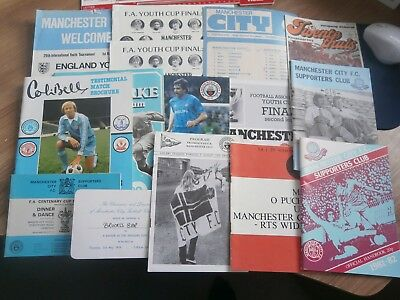 MANCHESTER CITY COLLECTION OF PROGRAMMES AND OTHER BITS - 70s/80s INC OVERSEAS