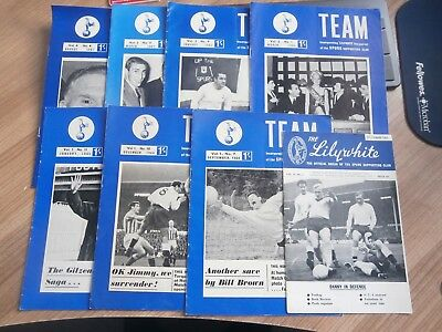 8 ISSUES OF THE TOTTENHAM 60s TEAM LILYWHITE