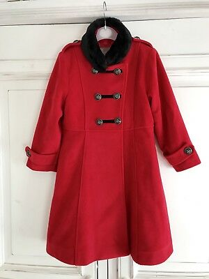 DESIGNER JINGLES *4-5y GIRLS Special Occasion PARTY Xmas RED COAT AGE 4 - 5 YEAR